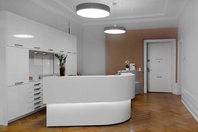 Empfangsbereich des Facharztzentrums Urologie Berlin Charlottenburg